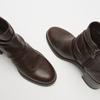 bottines en vrai cuir et à effet ondulé bata, Brun, 794-4753 - 17