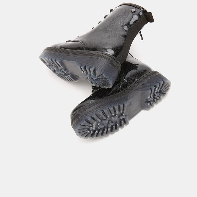 bottines à effet brillant et semelle track mini-b, Noir, 391-6180 - 19