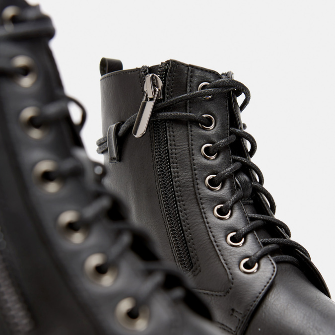 bottines à semelle track et fermeture éclair mini-b, Noir, 391-6288 - 17