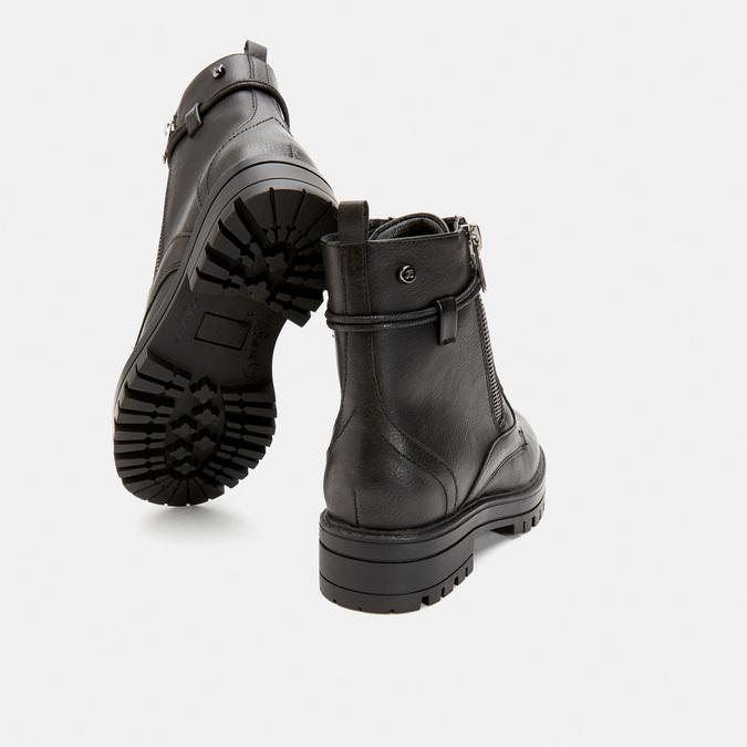 bottines à semelle track et fermeture éclair mini-b, Noir, 391-6288 - 15