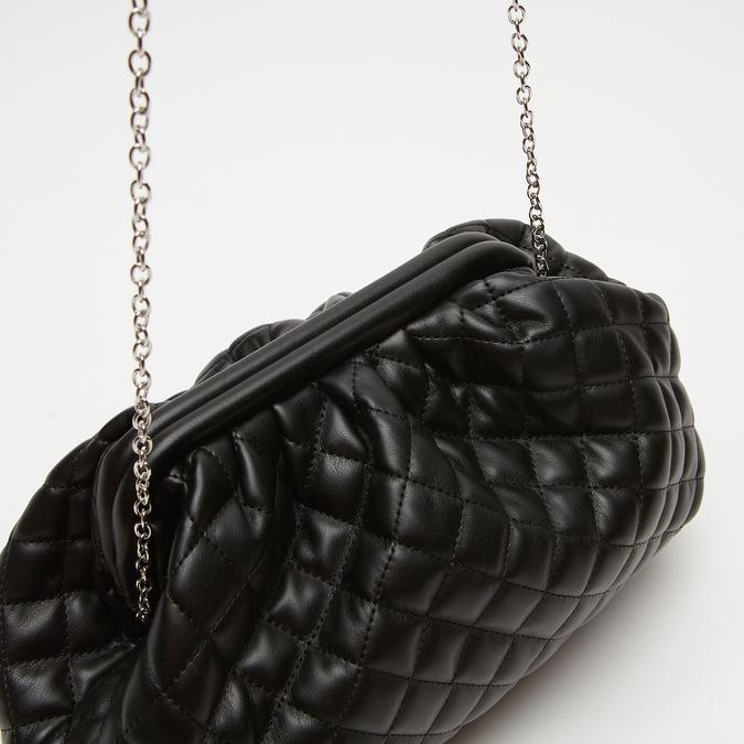 sac clutch à effet matelassé bata, Noir, 961-6342 - 16
