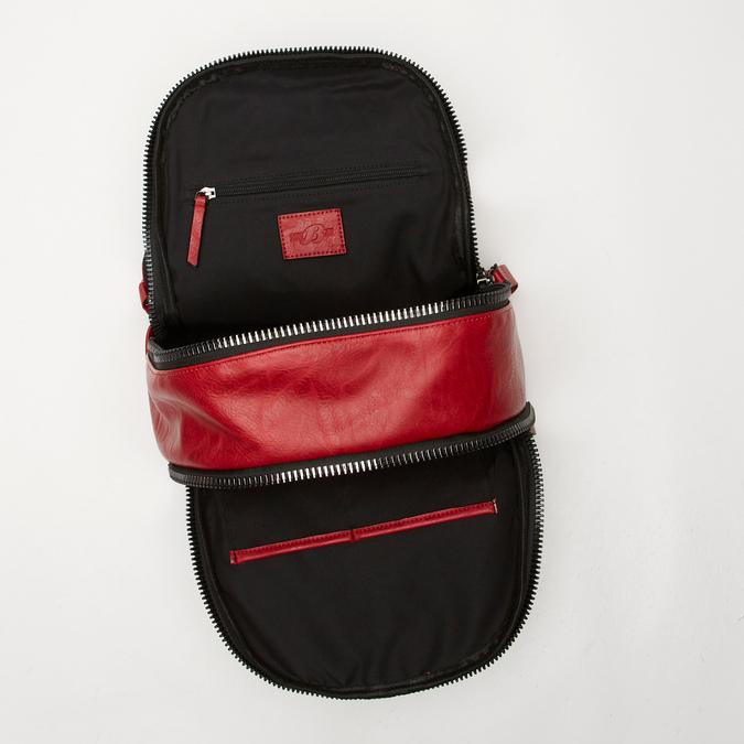 sac à dos à double fermeture éclair bata, Rouge, 961-5334 - 17