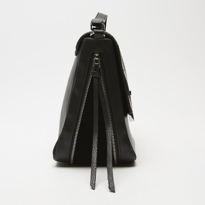 sac à main avec détails animaliers bata, Noir, 961-6255 - 16