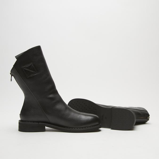 bottines en vrai cuir à fermeture éclair bata, Noir, 594-6426 - 19