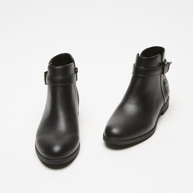 bottines à détails matelassés bata, Noir, 591-6205 - 26