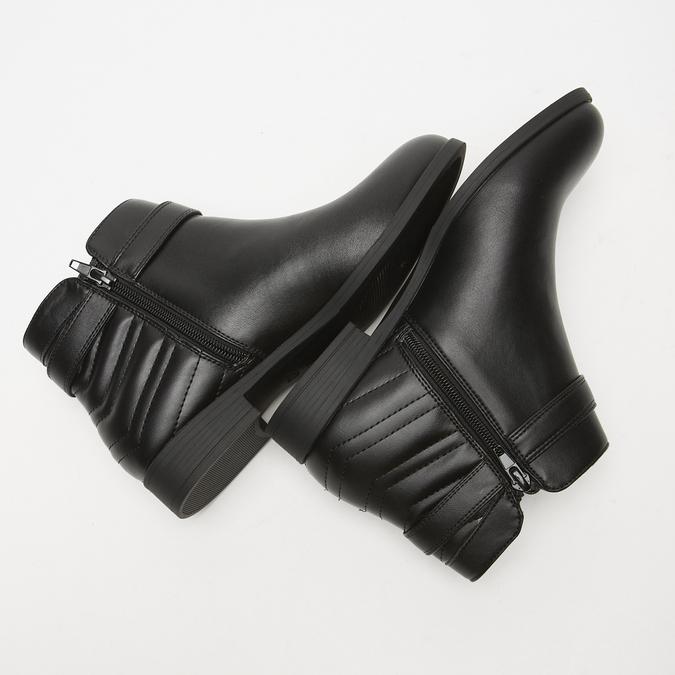 bottines à détails matelassés bata, Noir, 591-6205 - 17