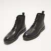 bottines brogue en cuir flexible, Noir, 894-6128 - 26