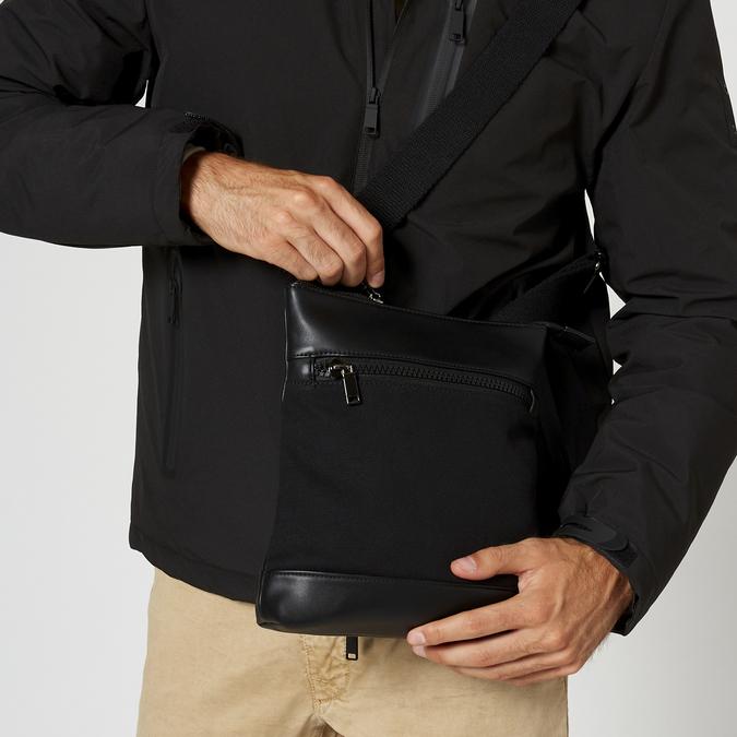 sac à bandoulière à double fermeture éclair bata, Noir, 961-6168 - 19