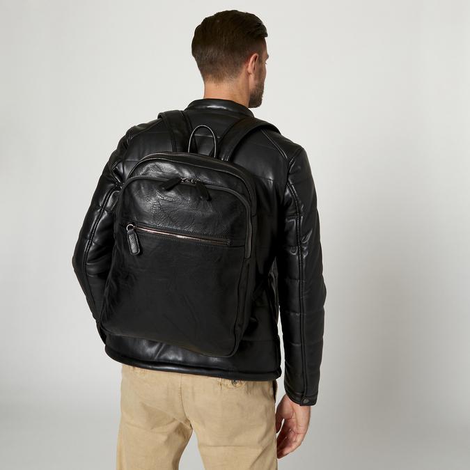 sac à dos à triple fermeture éclair bata, Noir, 961-6367 - 19