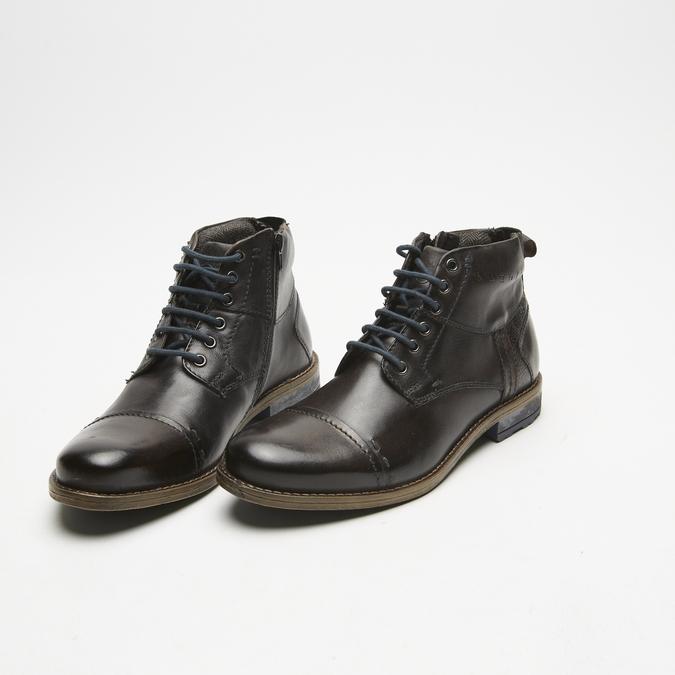 bottines en cuir homme bugatti, Gris, 894-2359 - 26