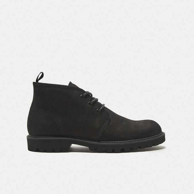 Desert boots en nubuck à semelle effet track bata, Noir, 896-6277 - 13