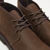 Desert boots en nubuck à semelle effet track bata, Brun, 896-3277 - 15