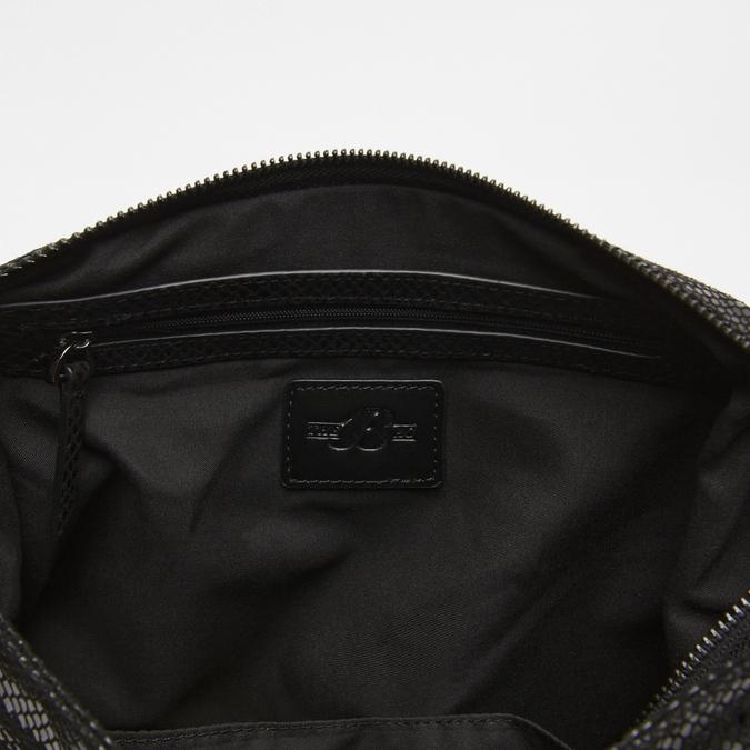 Sac à bandoulière en tissu bata, Noir, 969-6112 - 15