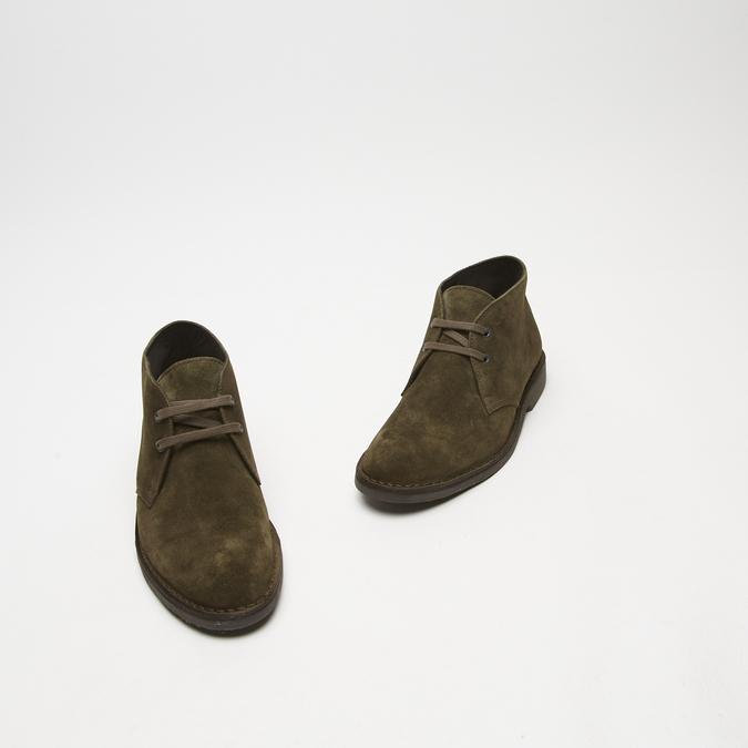 bottines en suède homme bata, Vert, 893-7135 - 26