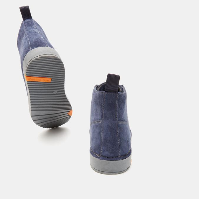 bottines en suède homme flexible, Bleu, 893-9841 - 17