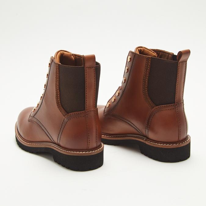 bottines en vrai cuir bata, Brun, 594-4849 - 17