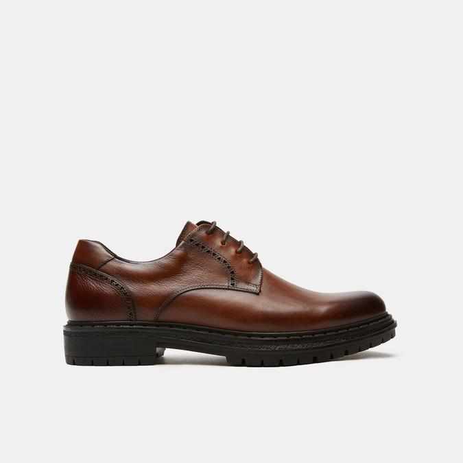 chaussures basses brogue en cuir bata, Brun, 824-3210 - 13