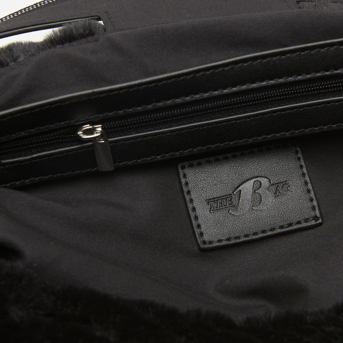sac hobo à fourrure bata, Noir, 969-6197 - 17