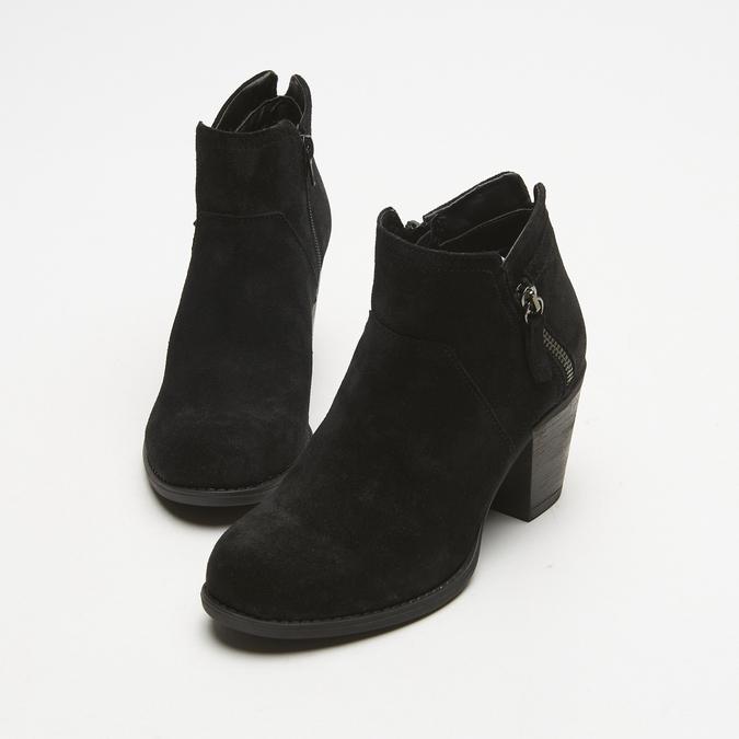 bottines à talons larges et fermeture éclair latérale bata, Noir, 793-6168 - 17