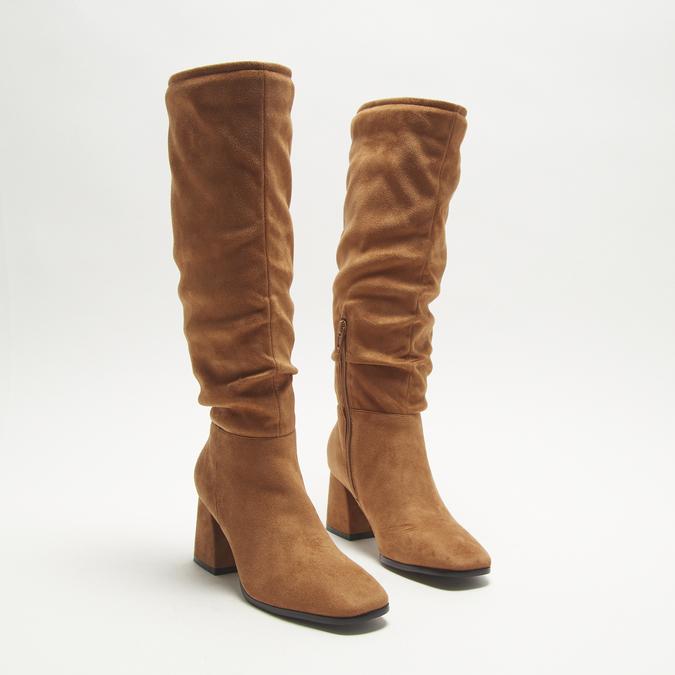 bottes en-dessous du genou à talons larges bata, Brun, 799-3421 - 16