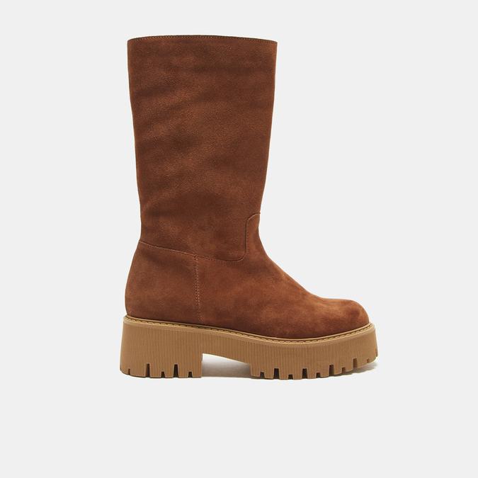 combat boots en suède à semelles track bata, Brun, 593-3836 - 13