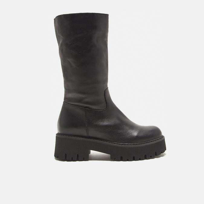 combat boots en cuir à semelles track bata, Noir, 594-6836 - 13