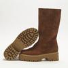 combat boots en suède à semelles track bata, Brun, 593-3836 - 19