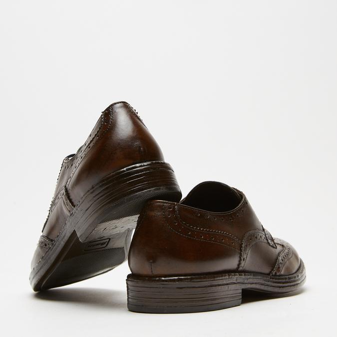 chaussures basses brogue en cuir bata, Brun, 824-4300 - 17
