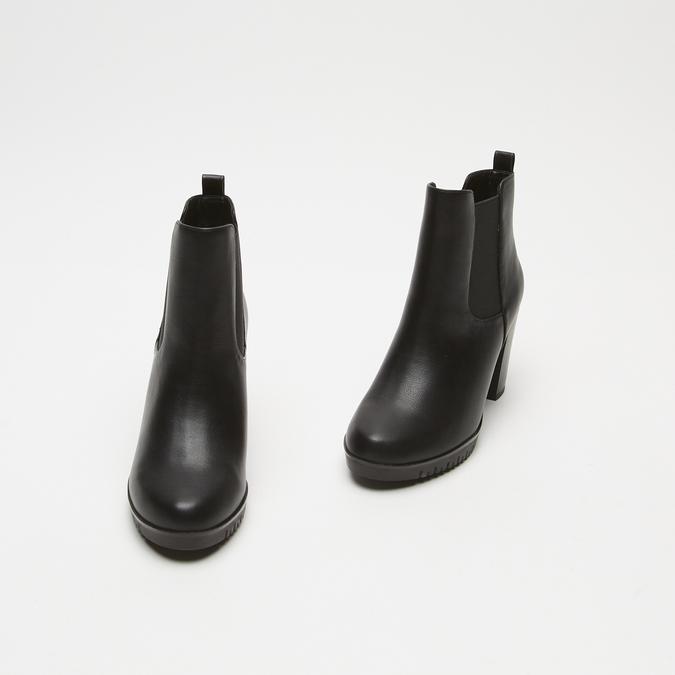 bottines à talons larges bata, Noir, 791-6130 - 26