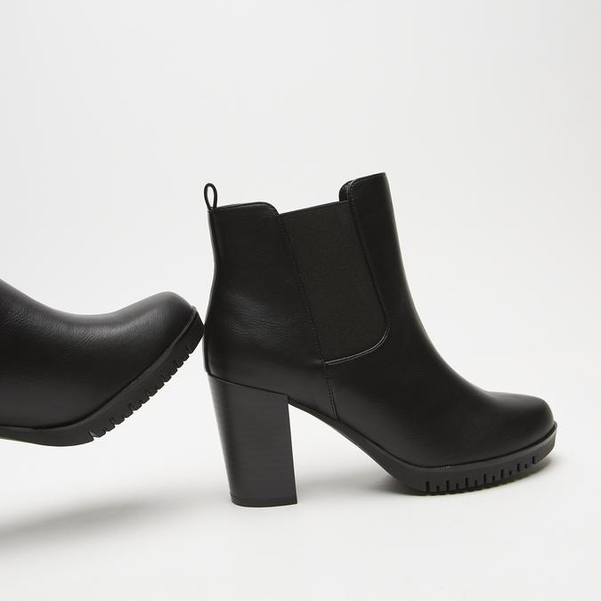 bottines à talons larges bata, Noir, 791-6130 - 15