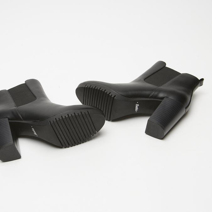 bottines à talons larges bata, Noir, 791-6130 - 19